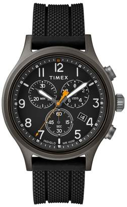 Timex R) Allied Chronograph Silicone Strap Watch, 42mm