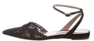 Tabitha Simmons Lace Pointed-Toe Flats