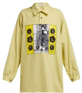 J.W.Anderson X Gilbert & George Print Striped Cotton Shirt - Womens - Yellow