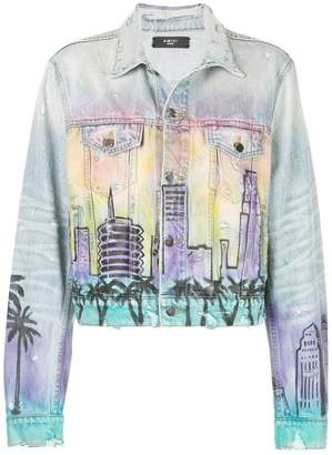 Amiri spray-paint city denim jacket