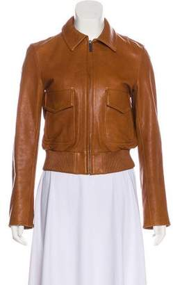Helmut Lang Leather Distressed Jacket