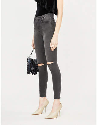 Good American Good Legs high-rise ripped skinny jeans