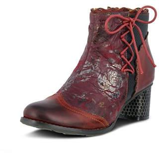 Spring Footwear Lace Embossed Bootie