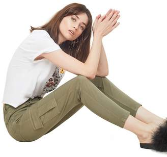 Miss Selfridge Khaki High Waist Skinny Fite Cargo Trousers