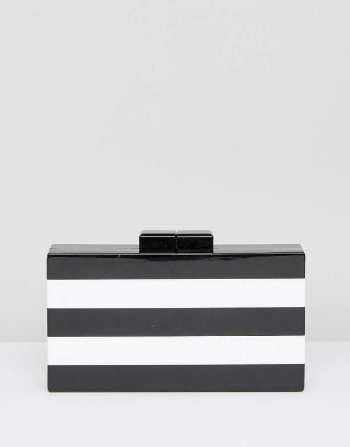 ASOS Stripe Box Clutch Bag