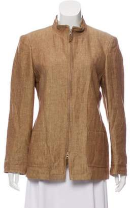 Akris Casual Linen Jacket brown Casual Linen Jacket