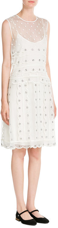 RED Valentino R.E.D. Valentino Silk Dress with Eyelets