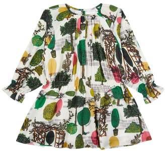 Burberry Cotton-Silk Tree Dress
