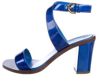 Sergio Rossi Patent Leather Ankle Strap Sandals