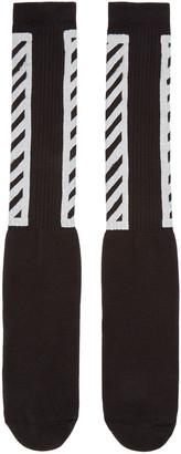 Off-White Black Logo Socks $45 thestylecure.com