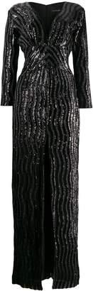 John Richmond long sequined dress