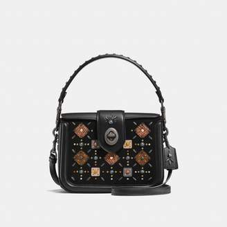 Coach Page Crossbody With Prairie Rivets And Snakeskin Detail