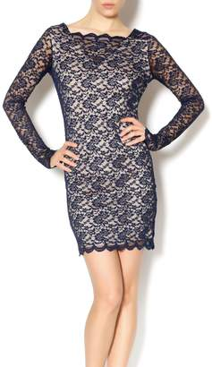 Double Zero Navy Lace Dress