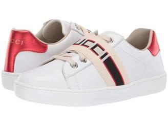 Gucci Kids GG Strap Low Top Sneaker (Little Kid)