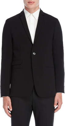 Patrizia Pepe Black Two-Button Suit Jacket