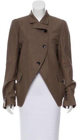 Ann DemeulemeesterAnn Demeulemeester Virgin Wool One-Button Blazer