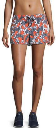 The Upside Sea of Koi Drawstring Running Shorts