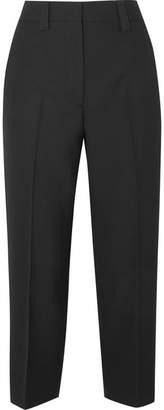 Acne Studios Trea Cropped Wool Straight-leg Pants - Black