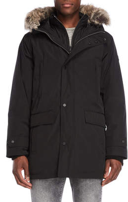 Michael Kors Faux Fur Trim Hooded Parka