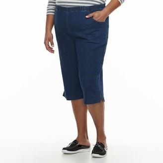 Croft & Barrow Plus Size Simple Vented Capri Jeans