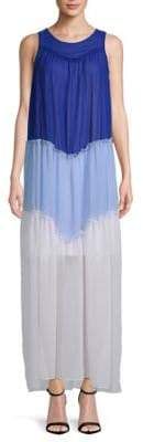 Colorblock Angle Tiered Maxi Dress