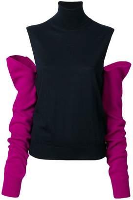 Calvin Klein cutout shoulder top