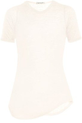 Frances De Lourdes - Hardy Round Neck Cashmere And Silk Blend T Shirt - Womens - Ivory