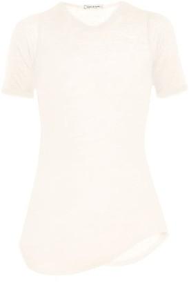 Frances De Lourdes - Hardy Round Neck Cashmere And Silk Blend T Shirt - Womens - Ivory