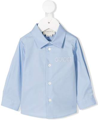 Gucci Kids embroidered logo shirt