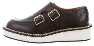 Givenchy Leather Chain-Link Oxfords