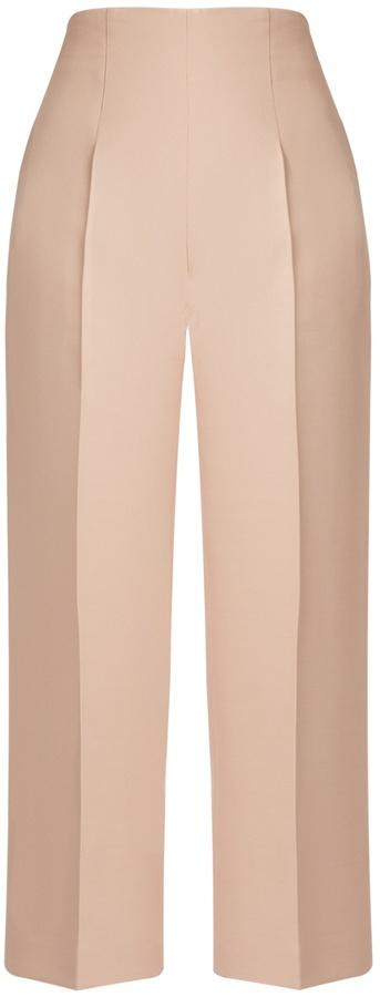 FendiFENDI High-rise wool and silk-blend cropped trousers
