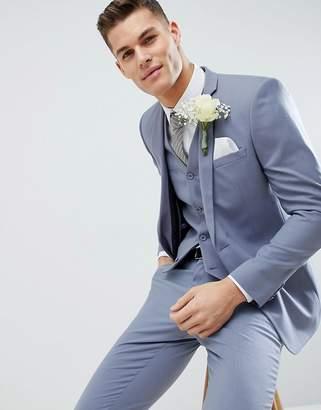Asos DESIGN wedding slim suit jacket in pastel blue