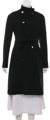 Valentino Double-Breasted Merino Wool Coat