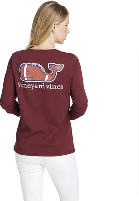 Vineyard Vines Long-Sleeve Classic Football Whale Tee