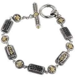 Konstantino Asteri Triple Pavé Black Diamond, Crystal and Sterling Silver Bracelet