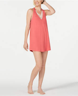 Flora Nikrooz Flora by May Lace-Trim Knit Chemise Nightgown