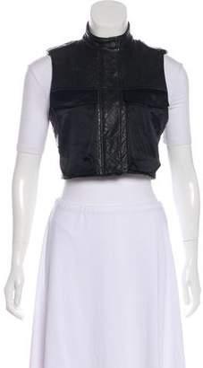 Rag & Bone Leather Cropped Vest