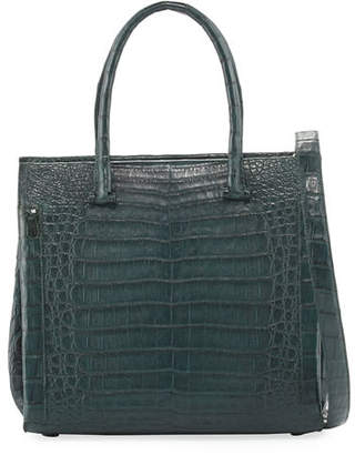 Nancy Gonzalez Medium Double-Handle Crocodile Tote Bag