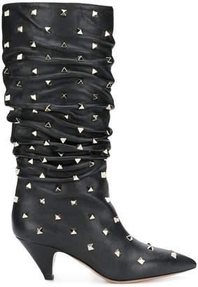 Valentino Rockstud slip on boots