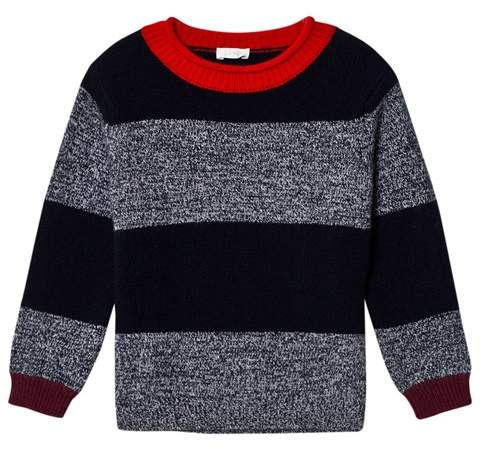 Navy and Marl Stripe Sweater