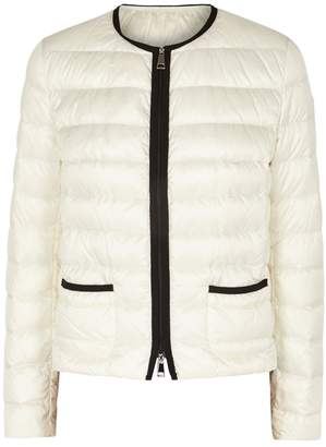 Moncler Cristal Ivory Quilted Shell Jacket