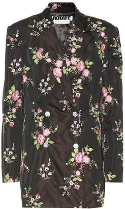 Rotate by Birger Christensen Embroidered floral blazer