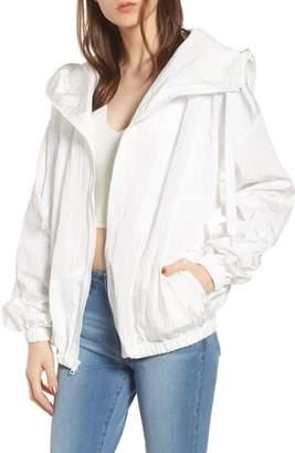 KENDALL + KYLIE Hooded Windbreaker Jacket