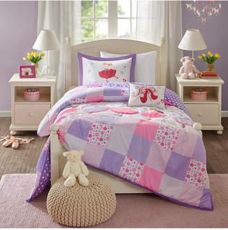 Mi Zone Kids Twirling Tutu 4-Pc. Full/Queen Comforter Set Bedding