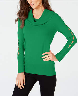 Thalia Sodi Embellished Cowl-Neck Sweater, Created for Macy's