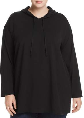Eileen Fisher Plus Hooded Tunic Top
