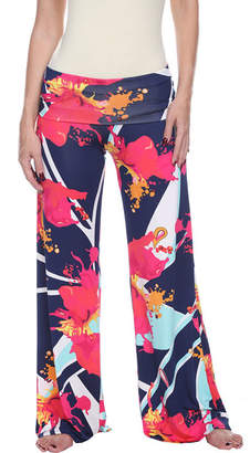 WHITE MARK White Mark World Of Color Abstract Palazzo Pants