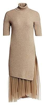 Brunello Cucinelli Men's Cashmere & Tulle Lurex Midi Dress