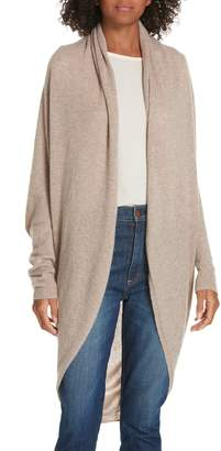 Theory Curved Hem Cashmere Cardigan