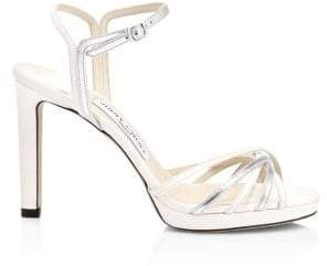 Jimmy Choo Lilah Strappy Metallic Heeled Sandals